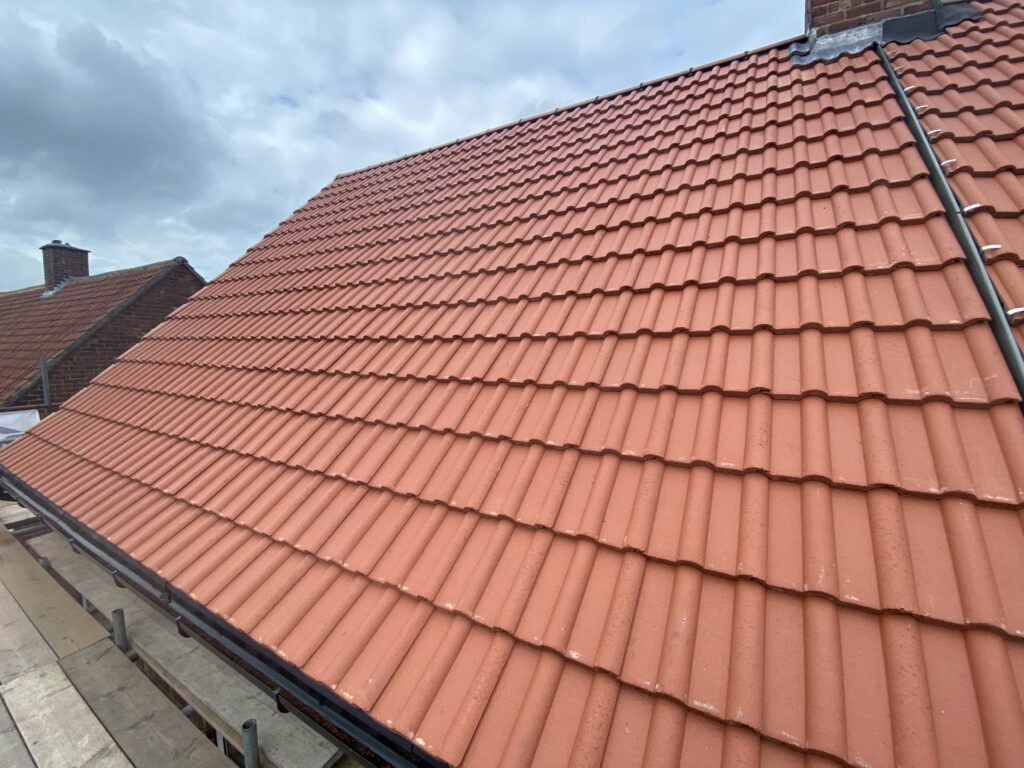 Roof Replacement using Double Roman Tiles